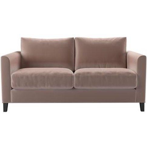 Izzy 2 Seat Sofa In Orchid Cotton Matt Velvet