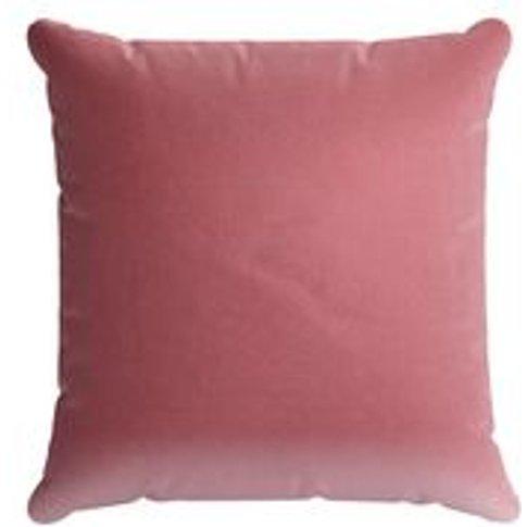 45x45cm Scatter Cushion In Dusty Rose Cotton Matt Velvet