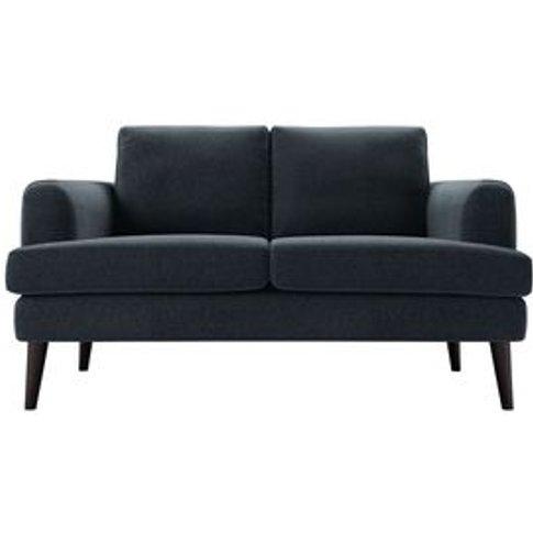 Reuben 2 Seat Sofa In Rockpool Smart Slubby Cotton