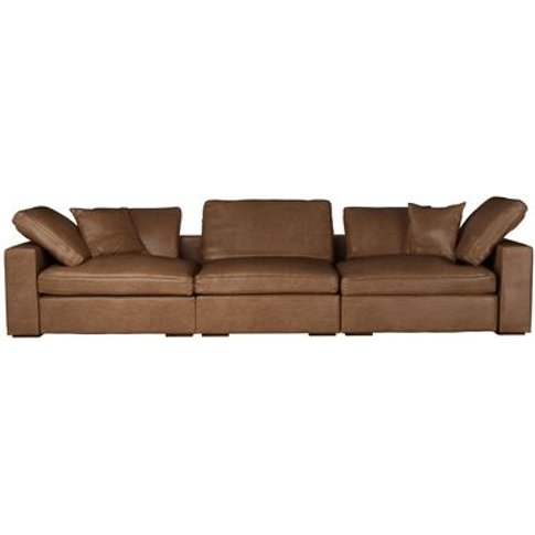 Long Island 3 Seat Sofa In Tan Vintage Leather