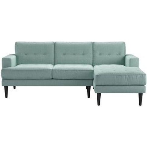 Mabel Medium Rhf Chaise Sofa In Cambridge Blue Pure ...