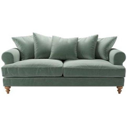 Teddy 3 Seat Sofa in Sage Smart Velvet