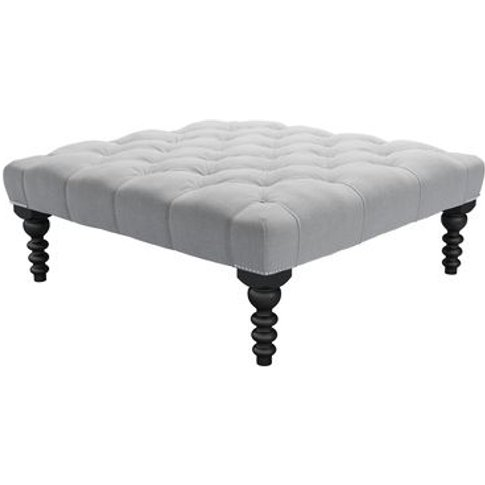 Valentin Large Square Footstool In Pumice House Plai...
