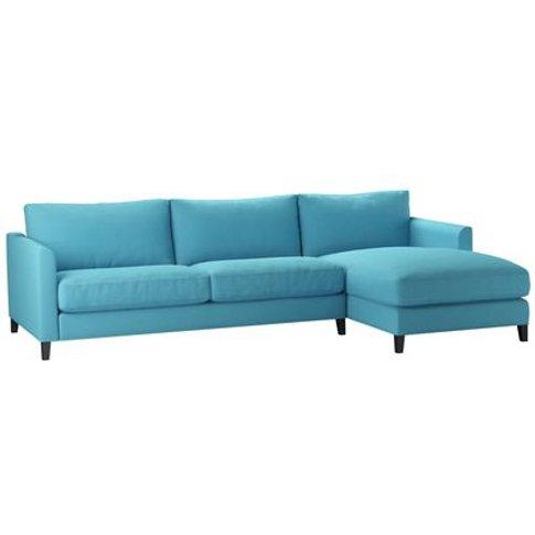 Izzy Large Rhf Chaise Sofa In Blue Raspberry Pick 'N...