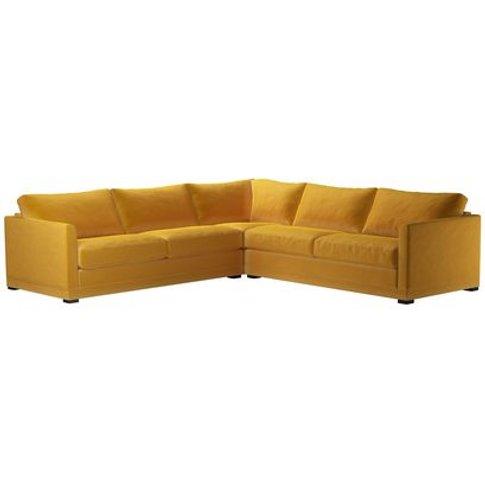 Aissa Large Corner Sofa In Butterscotch Cotton Matt ...
