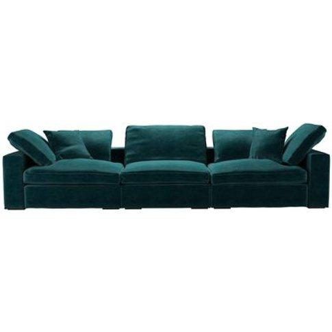 Long Island 3 Seat Sofa In Jade Smart Velvet