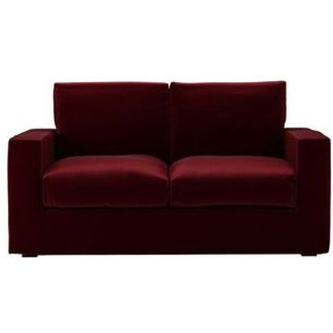 Stella 2.5 Seat Sofa Bed In Claret Cotton Matt Velvet