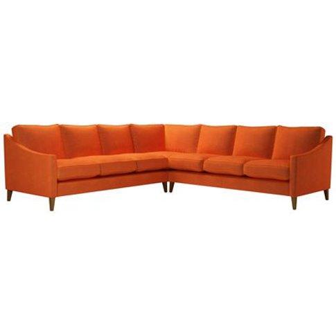 Iggy Large Corner Sofa In Paprika Smart Velvet