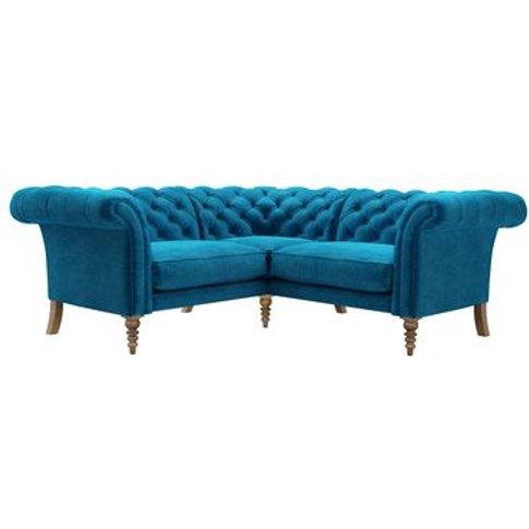 Oscar Small Corner Sofa In Scuba Smart Velvet