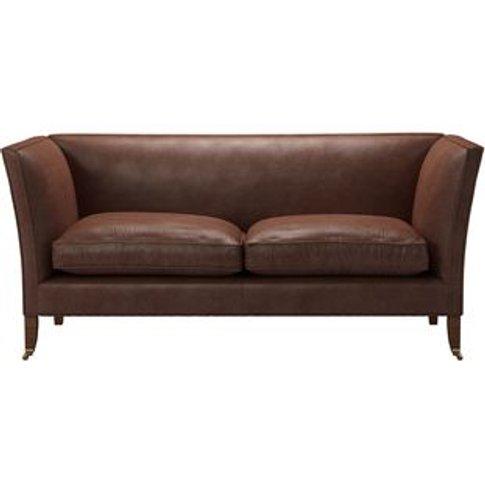 Descartes Plain 2.5 Seat Sofa In Satchel Vintage Lea...