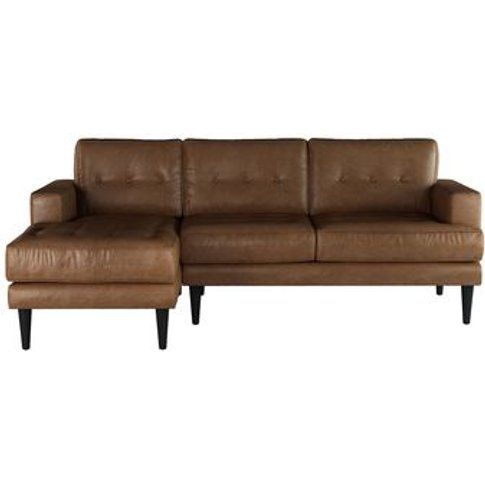 Mabel Medium Lhf Chaise Sofa In Tan Vintage Leather