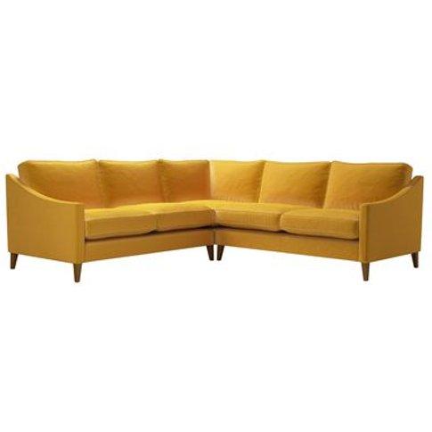 Iggy Medium Corner Sofa In Butterscotch Cotton Matt ...