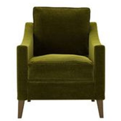 Iggy Armchair In Olive Cotton Matt Velvet
