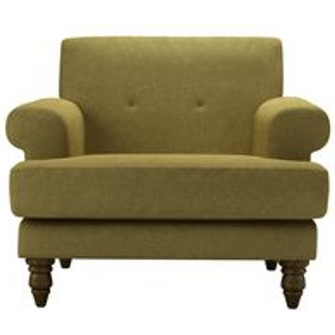 Remy Armchair In Mossymere Norfolk Cotton