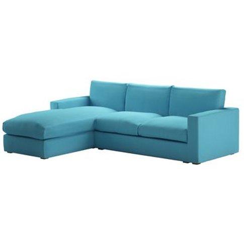 Stella Large Lhf Chaise Sofa In Blue Raspberry Pick 'N' Mix Cotton