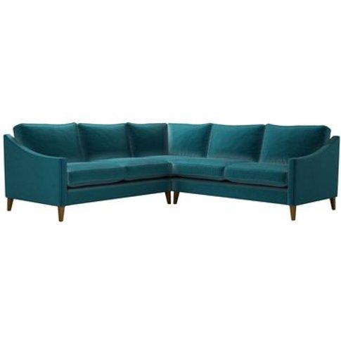 Iggy Medium Corner Sofa In Deep Turquoise Cotton Mat...