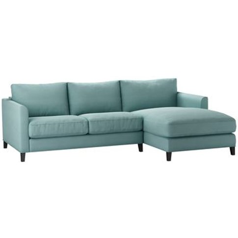 Izzy Small Rhf Chaise Sofa In Eucalyptus Smart Cotton