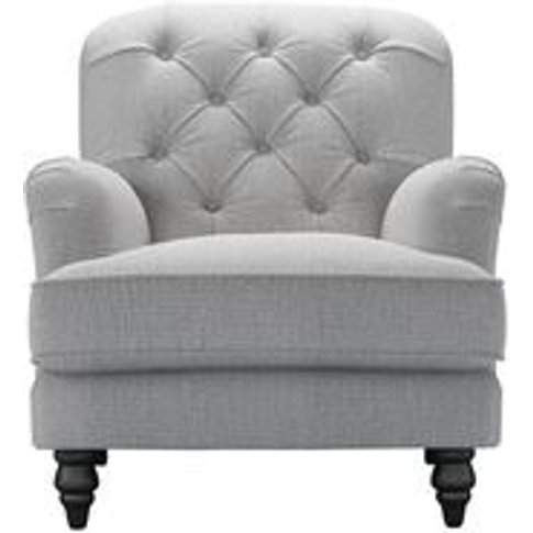 Snowdrop Button Back Armchair In Stepping Stone Dove...
