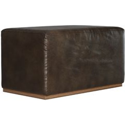 Hugo Small Rectangular Footstool In Espresso Bellwet...