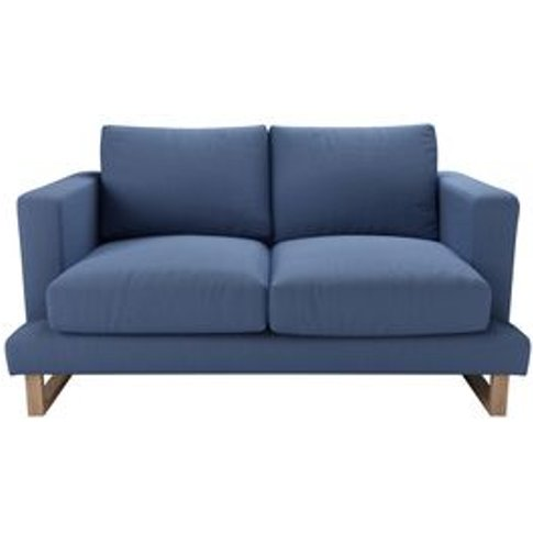 Madison 2 Seat Sofa In Oxford Blue Brushed Linen Cotton