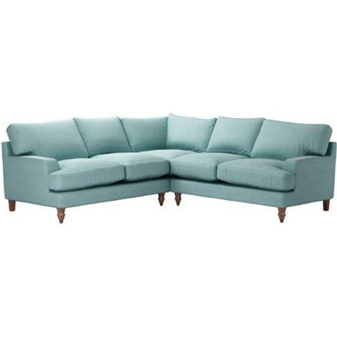 Isla Medium Corner Sofa In Eucalyptus Smart Cotton