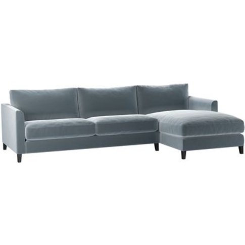 Izzy Large Rhf Chaise Sofa In Windermere Cotton Matt...