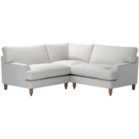 Isla Small Corner Sofa In Alabaster Brushed Linen Co...