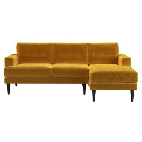 Mabel Medium Rhf Chaise Sofa In Butterscotch Cotton ...