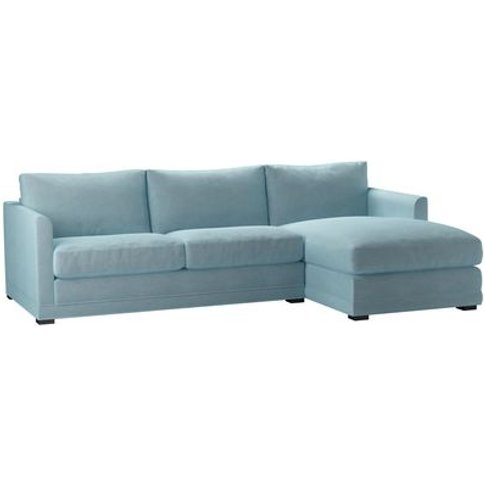 Aissa Medium Rhf Chaise Sofa In Powder Blue Smart Ve...