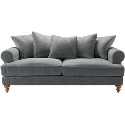 Teddy 3 Seat Sofa In Thatch Smart Velvet