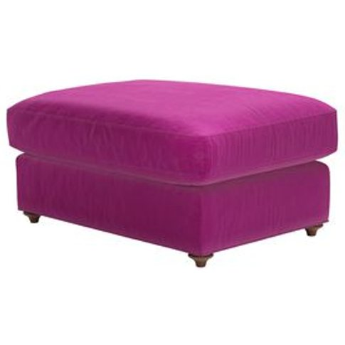 Rupert Large Rectangular Footstool In Peony Cotton M...