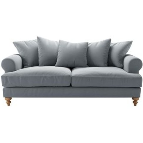 Teddy 3 Seat Sofa In Sealion Smart Cotton