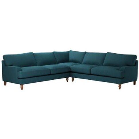 Isla Large Corner Sofa In Evergreen Brushed Linen Co...