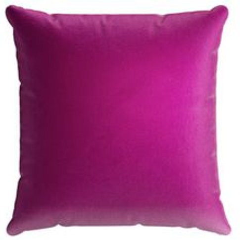 55x55cm Scatter Cushion In Peony Cotton Matt Velvet