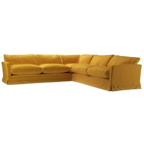 Otto Large Corner Sofa In Butterscotch Cotton Matt V...