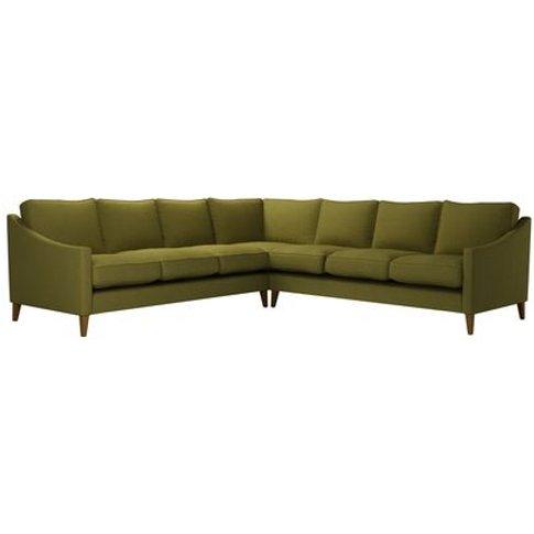 Iggy Large Corner Sofa In Royal Fern Brushed Linen C...