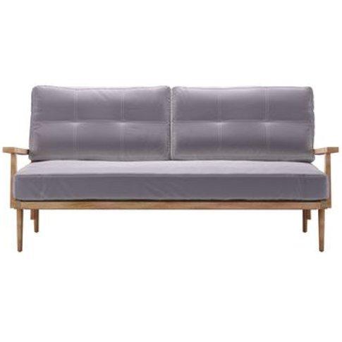 Hendrik 3 Seat Sofa In Chicory Cotton Matt Velvet