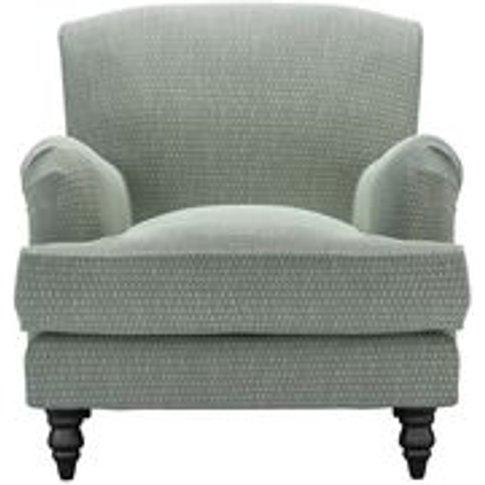 Snowdrop Armchair In Ocean Diamond Viscose Cotton
