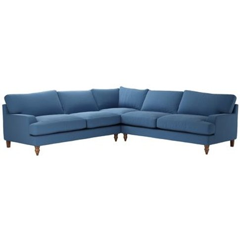 Isla Large Corner Sofa In Heather Blue Smart Cotton
