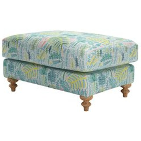 Teddy Large Rectangular Footstool In Dawn Lucy Tiffn...