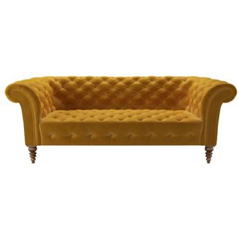 Oscar Button Seat 3 Seat Sofa In Butterscotch Cotton...