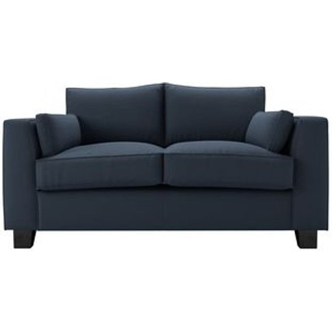 Bowie 2 Seat Sofa In Midnight Blue Brushed Linen Cotton
