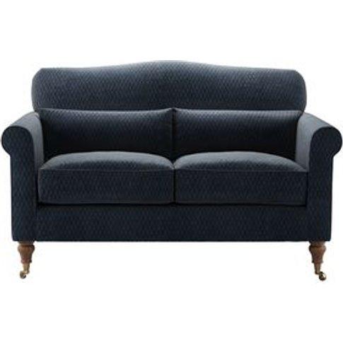Dahlia 2 Seat Sofa In Gunmetal Velvet Jacquard