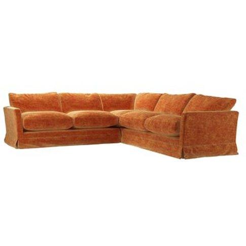 Otto Medium Corner Sofa In Ganges Roosevelt Velvet