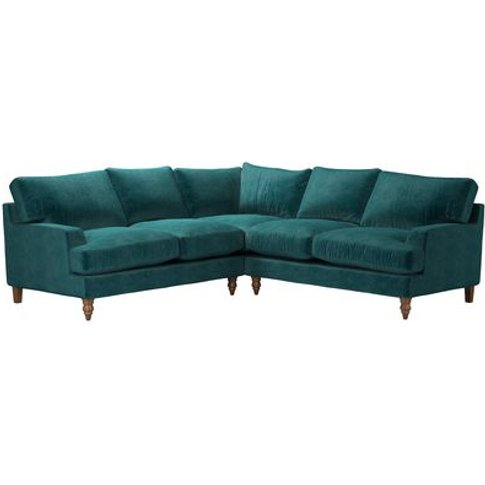 Isla Medium Corner Sofa In Jade Smart Velvet
