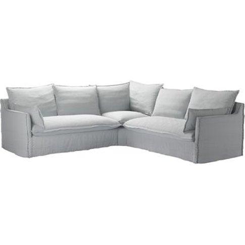 Isaac Medium Corner Sofa in Arctic Chessnea Stripe