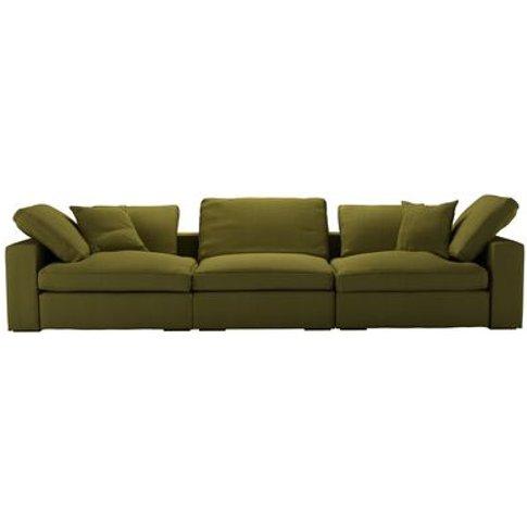 Long Island 3 Seat Sofa In Royal Fern Brushed Linen ...