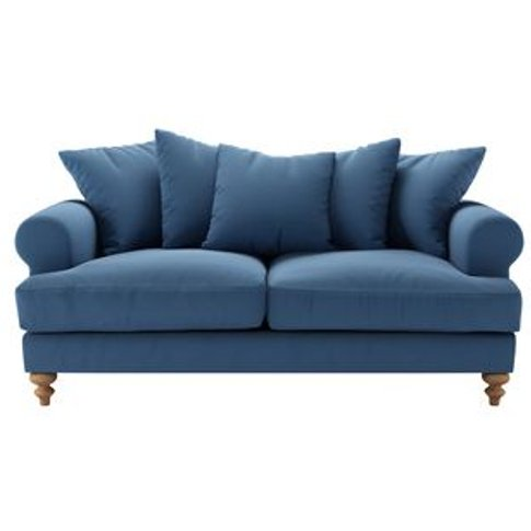 Teddy 2.5 Seat Sofa In Heather Blue Smart Cotton