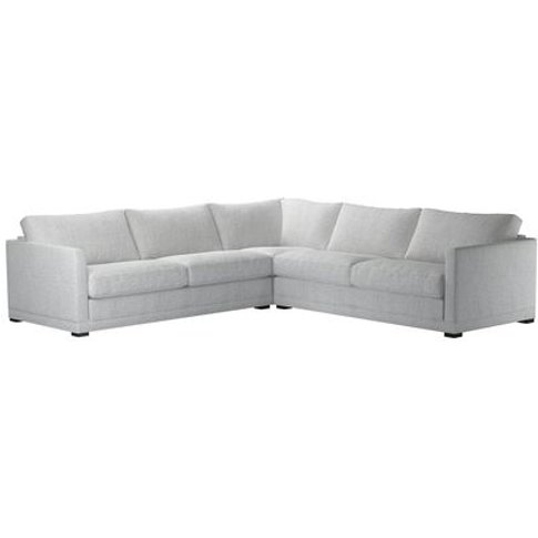 Aissa Large Corner Sofa In Koala Chelsea Linen