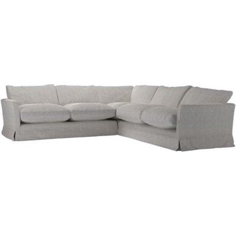 Otto Medium Corner Sofa In Rye Baylee Viscose Linen